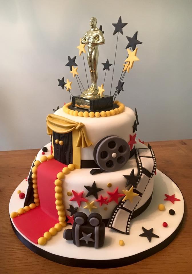 Awesome Movie Reel Cake Donna Perks Cakes Funny Birthday Cards Online Alyptdamsfinfo