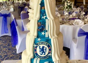 Chelsea FC Wedding Cake
