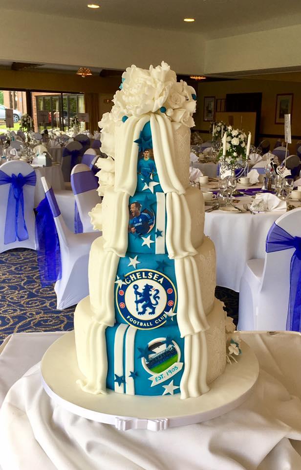 Chelsea Fc Wedding Cake Donna Perks Cakes