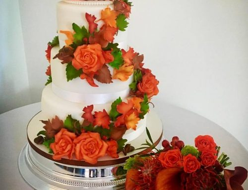 Autumnal Pumpkin Wedding Cake