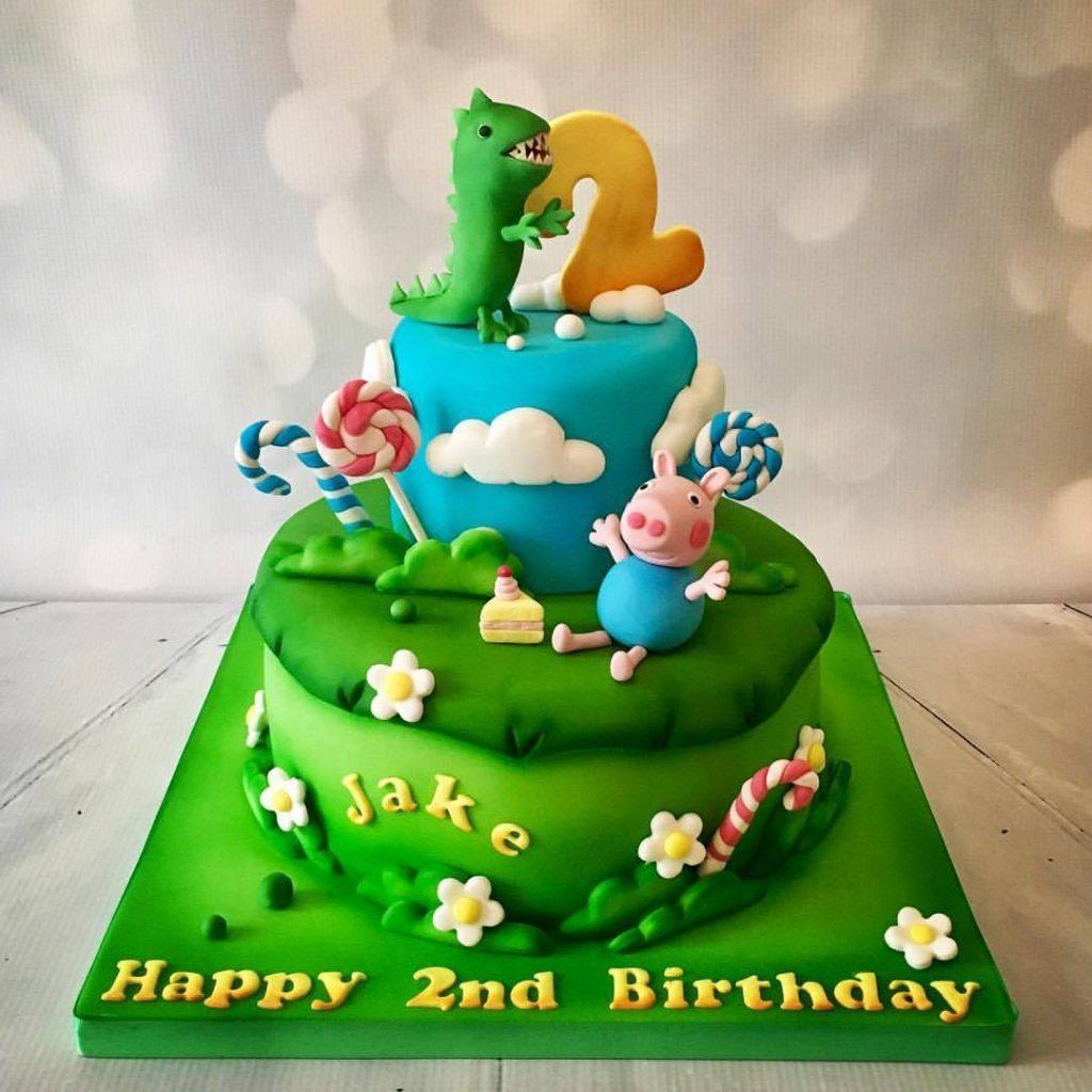 Strange Peppa Pig Birthday Cake Donna Perks Cakes Funny Birthday Cards Online Inifodamsfinfo