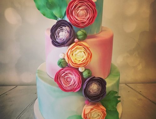Rose & Butterfly Cake